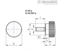Ручки с накаткой B.193-p – Чертеж 1
