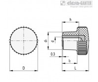 Ручки с накаткой B.259-B – Чертеж 1