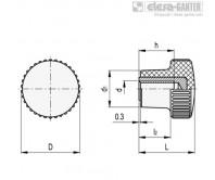 Ручки с накаткой B.259-CLEAN – Чертеж 1