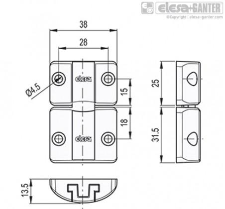 Дверной фиксатор с защёлкой BMS – Чертеж 1