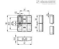 Дверной фиксатор с защёлкой BMST – Чертеж 1