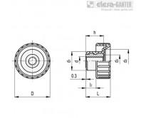 Ручки с рифлением BT-SST-FP – Чертеж 1
