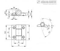 Петли с фиксатором CFVT-CH-115 – Чертеж 1