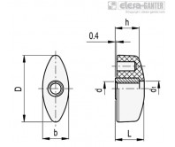 Лепестковые ручки CT.476-FP – Чертеж 1