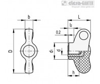 Лепестковые ручки CWN-B – Чертеж 1