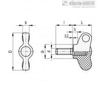Лепестковые ручки CWN-p – Чертеж 1