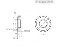 Контргайки со шлицами DIN 1804-WNI – Чертеж 1