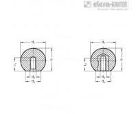 Шарообразные ручки DIN 319-KT – Чертеж 1