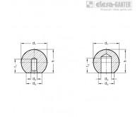 Шарообразные ручки DIN 319-ST – Чертеж 1