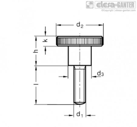 Винты с насечкой DIN 464-NI – Чертеж 1