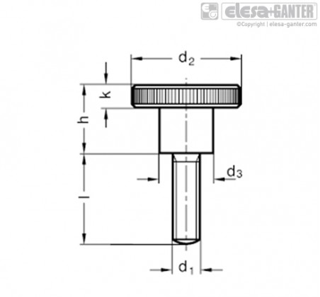 Винты с насечкой DIN 464-NI – Чертеж 2