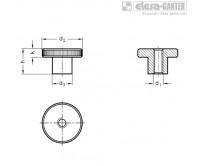 Гайки с насечкой DIN 466-NI – Чертеж 1
