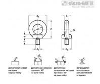 Рым-болты DIN 580-A4 – Чертеж 1