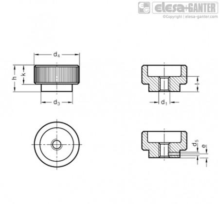 Гайки с насечкой DIN 6303-NI – Чертеж 1
