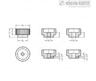 Гайки с насечкой DIN 6303 – Чертеж 1