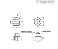 Шестигранные гайки DIN 6330-NI – Чертеж 1