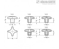 Поворотные ручки DIN 6335-GG – Чертеж 1