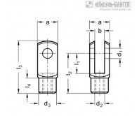 Вильчатые головки DIN 71752 – Чертеж 1