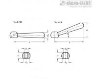 Ручки с прижимными рычагами DIN 99-NI – Чертеж 1
