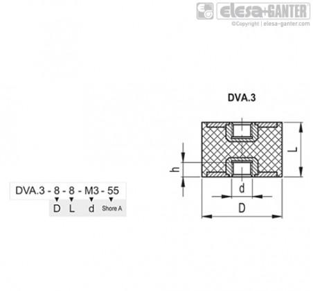 Виброгасители DVA.3 – Чертеж 1