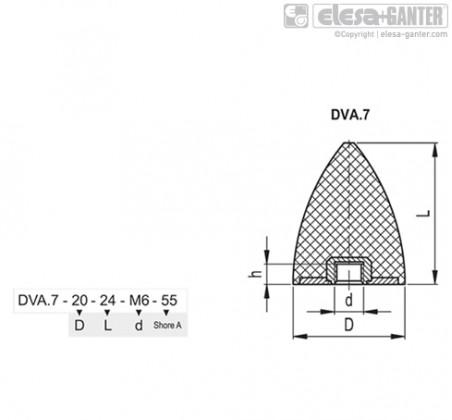 Виброгасители DVA.7 – Чертеж 1