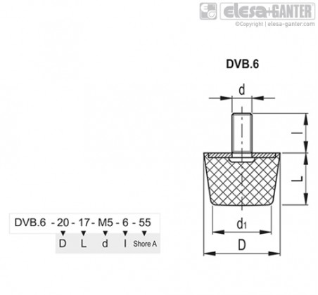 Виброгасители DVB.6 – Чертеж 1