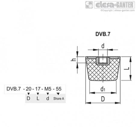 Виброгасители DVB.7 – Чертеж 1