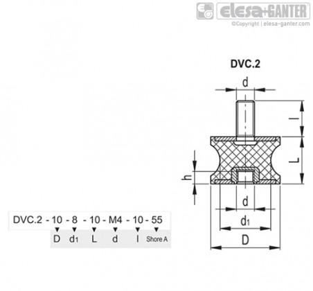 Виброгасители DVC.2 – Чертеж 1