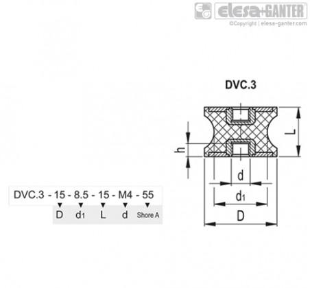Виброгасители DVC.3 – Чертеж 1