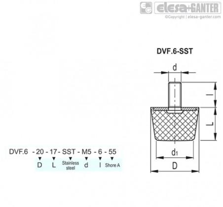 Виброгасители DVF.6-SST – Чертеж 1