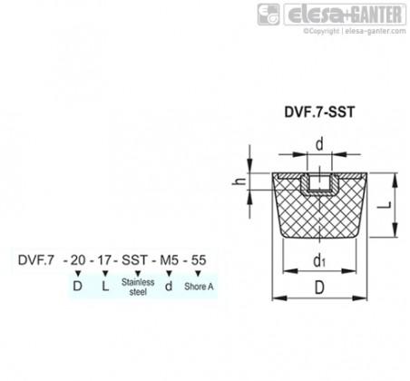 Виброгасители DVF.7-SST – Чертеж 1