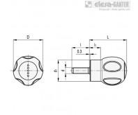 Грибовидные лепестковые ручки EBK-p-SOFT – Чертеж 1