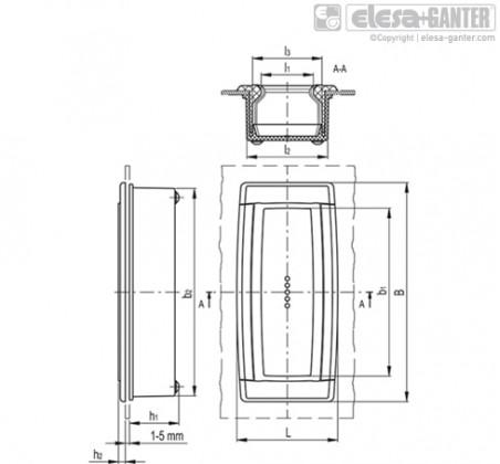 Двунаправленные ручки-купе ERB-CLEAN – Чертеж 1