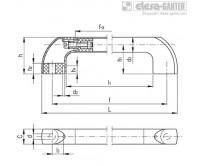 Трубчатые ручки ETH-AN – Чертеж 1
