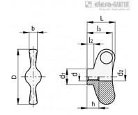 Лепестковые ручки EWNM-SST-FP – Чертеж 1