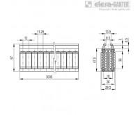 Центральные направляющие с роликами GCA-2-RC – Чертеж 1