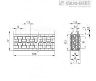 Центральные направляющие с роликами GCA-2-RT – Чертеж 1