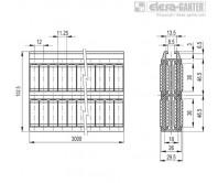 Центральные направляющие с роликами GCA-4-RC – Чертеж 1
