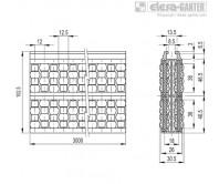 Центральные направляющие с роликами GCA-4-RS – Чертеж 1
