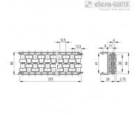 Шарнирно-сочлененные боковые направляющие GLB-1-RT – Чертеж 1