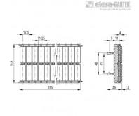 Шарнирно-сочлененные боковые направляющие GLB-2-RC – Чертеж 1