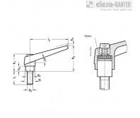 Регулируемые ручки рычажного типа GN 101.1 – Чертеж 1