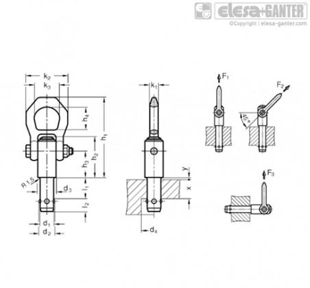 Подъёмные штифты GN 1130 – Чертеж 1