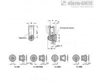 Защелки GN 115-NL-NI-with key – Чертеж 1