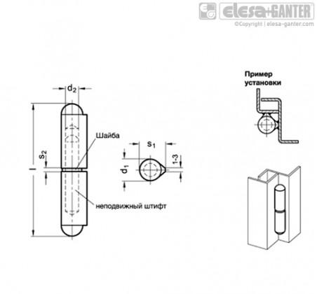 Петли GN 128.2-A4 – Чертеж 1