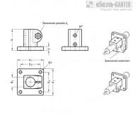 Зажимы с опорной пластиной для линейного привода GN 162.1 – Чертеж 1