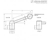 Натяжные рычаги GN 212-ST – Чертеж 1