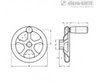 Маховики из нержавеющей стали GN 227.2-D – Чертеж 1