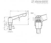 Регулируемые ручки рычажного типа GN 300.1 – Чертеж 1