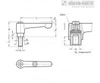 Регулируемые ручки рычажного типа GN 302 – Чертеж 1
